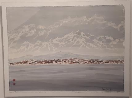 Lars Sander - Leines 1 - Akvarell